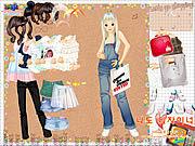 Игра Делающая покупки Девочка 4 Наряжается