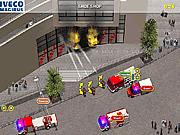Игра Пожарные машины на задании