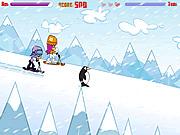 Игра PuppyGirls в самокате снежка