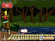 Игра Барт Симпсон на скетборде