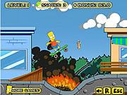 Игра Барт на Скейте