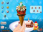 Игра Вкусный мороженого конуса