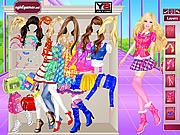 Игра Барби одевается в школу
