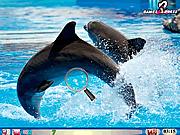 Игра Найти числа - Дельфины