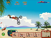 Игра Пляж BMX Scooby Doo