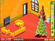 Игра Укрась Гостиную к Рождеству