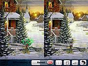 Игра Найди отличия - Зимний лес