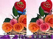 Игра Найди 5 отличий на картинке про любовь
