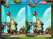 Игра Ice Age The MeltDown Spot The Difference