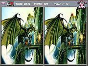 Игра Найди различия - драконы