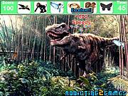 Игра Найти предметы - лесной динозавров