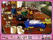 Игра Элвин и бурундуки - скрытые объекты