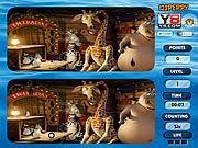 Игра Найти отличия - Мадагаскар 3