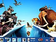 Игра Найти предметы - Ледниковый период 4