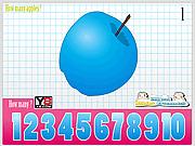 Игра Детишки учаться считать яблочки