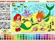 Игра Игры русалочек - раскраска