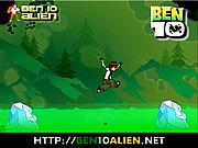 Игра Бен 10 прыгает по льду