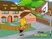 Игра Барт Симпсон - баскетбол