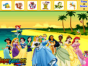 Игра Найти предметы -  друзья принцессы