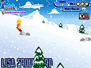Игра Лиза на сноуборде