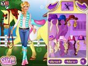 Игра Барби и верховая езда