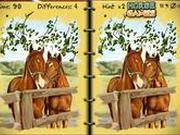 Игра Найди отличия  - Лошади
