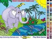 Игра Раскрась слона
