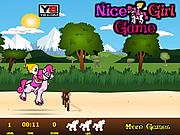 Игра Девочка на пони