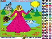Игра Раскраска принцесса 2
