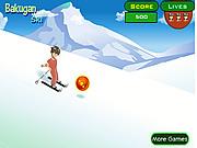Игра Бакуган на лыжах
