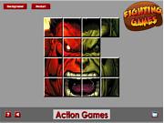 Игра Красный Халк против зеленого Халка. Пазл.