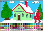 Игра Рождественские раскраски