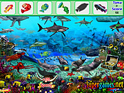 Игра Найти предметы - Подводный рыбы