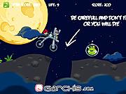Игра Злобная птица. Космический велосипед