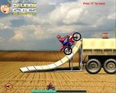 Игра Удивительный Человек-Паук на мотоцикле
