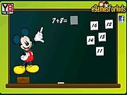 Игра Микки Маус. Обучение математике