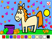 Игра Раскраска животных