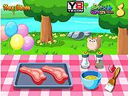 Игра Барбекю с телятиной и томатом