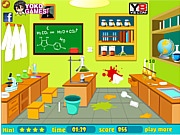 Игра Уборка лаборатории