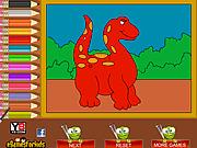 Игра Динозавр. Раскраска