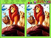 Игра Король Лев. Найди отличия