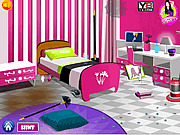 Игра Уборка комнаты с Барби