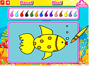 Игра Рыбки в аквариуме. Раскраска