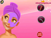 Игра Принцесса Рапунцель - Макияж на лице