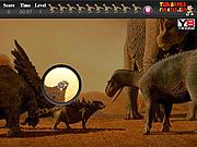 Игра Динозавр. Скрытые предметы