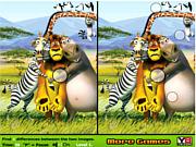 Игра Мадагаскар - найти отличия