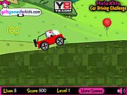 Игра Хелло Китти на автомобиле