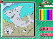 Игра Акулы. Раскраска
