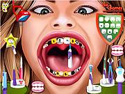 Игра Ханна Монтана у стоматолога лечит зубы