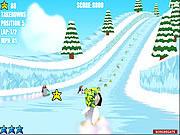 Игра Гонка по льду в 3D: дерзкие пингвины